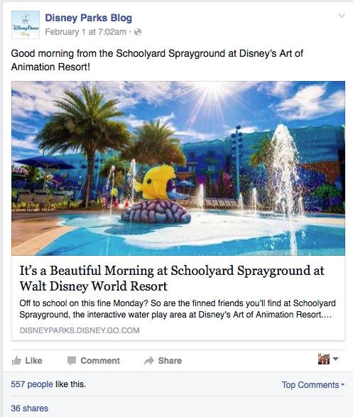 Disney Parks post breve
