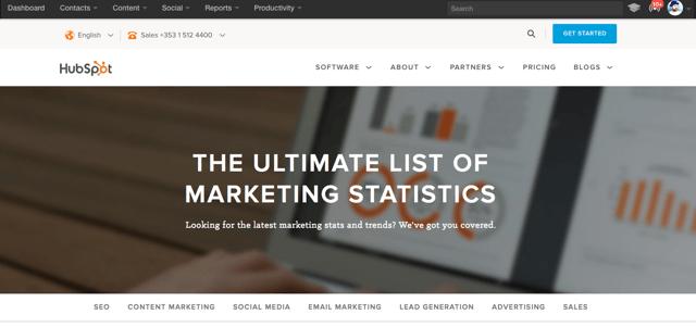 Hubspot marketing statistics