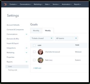 Goals Service Hub Enterprise